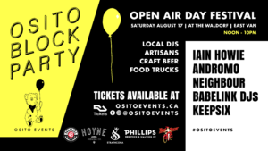 Poster for Osito Block Party at the Waldorf August 17